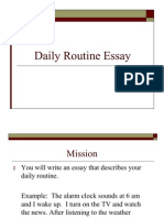 Daily Routine Essay