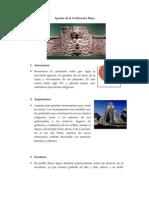Aportes de la Civilización Maya