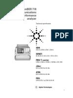 Agilent 37718C OmniBer 718 Communications Performance Analyzer Data Sheet