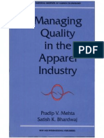 Managing Quality in Apparel Industry