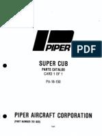 PA-18 150 SuperCub Parts Catalog Complete)