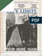 City Limits Magazine, January 1985 Issue