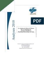 2010 Analyse Les Violations Des Droits de l Homme Liees a l Exploitation Des RN en RDC