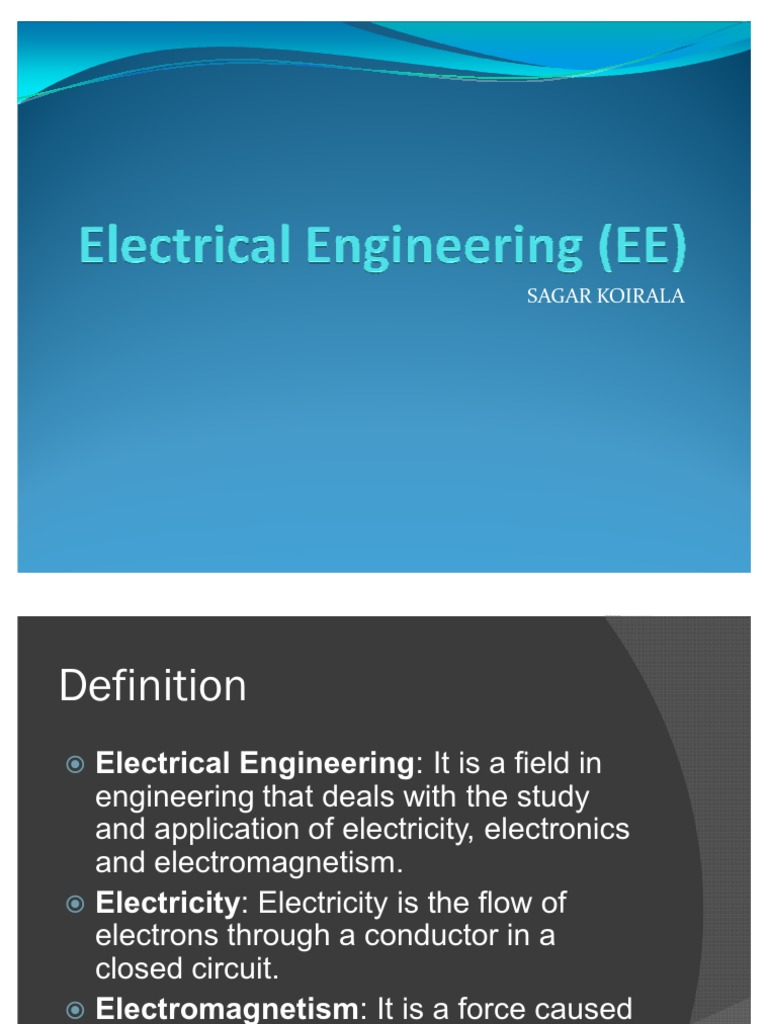 Electrical Engineering Ee Sagar For Electric Circuits Learn