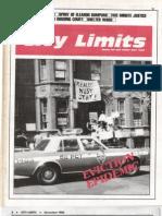 City Limits Magazine, December 1986 Issue