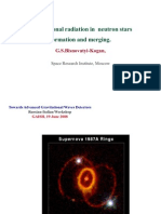 G.S. Bisnovatyi-Kogan- Gravitational radiation in neutron stars formation and merging