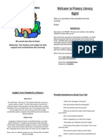 primary literacy night booklet