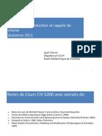1 Caracteristiques Rappels CIV6200 AUT2011 Final
