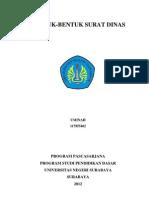 Bentuk-bentuk Surat Dinas