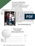 Golf Tournament for Harold Sublett