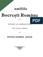 37954057 Familiile Boeresti Romane Istoric Si Genealogie Dupe Isvoare Autentice Lecca