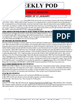 FRO WEEKLY PLAN OF THE DAY, THE WEEK OF 23 JANUARY 2012