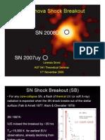Lorenzo Sironi- Supernova Shock Breakout