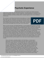 The Value of Psychotic Experience