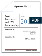 Cost Behaviour and CVP Relationship