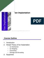 Lect 4 Ion Implantation