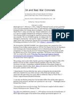 The CIA and Nazi War Criminals