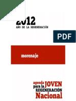 Morenaje, Agenda Joven para la Regeneración Nacional