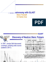 Steve Thorsett- Pulsar Astronomy with GLAST