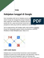 Kebijakan dan Prinsip Google