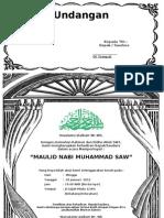 Undangan Maulid Nabi Muhammad