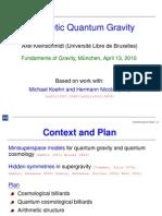 Axel Kleinschmidt- Arithmetic Quantum Gravity