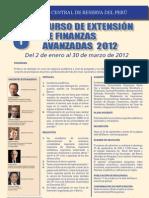 Curso de Extension Finanzas 2012