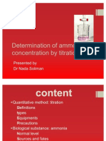 Determination of Ammonia Concentration by Titration