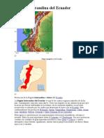 Región Interandina del Ecuador