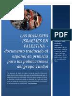 Las masacres israelíes en Palestina