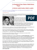 The Plan to Assassinate Bangladesh Prime Minister by LTTE