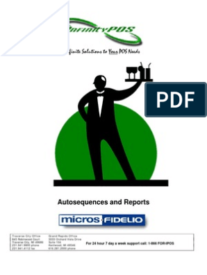 Micros 3700 Auto Sequences and Reports - 20081001 | Gratuity