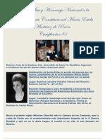 Santa Misa y Homenaje Nacional a La Serñoa Perón