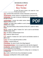 key terms introduction to history