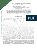 J. Oitmaa, Weihong Zheng and D. Tompsett- Hard Core Bosons on the Triangular Lattice at Zero Temperature
