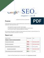 Google SEO Report Card