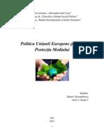 Institutii Politice Europene - Politica UE Privind Protectia Mediului