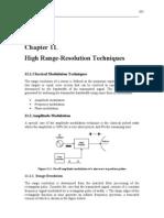 High Range-Resolution Techniques