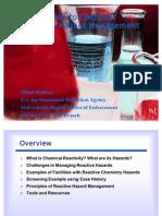 Chemical Re Activity Hazard Management
