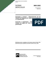 NBR 9 - Concreto e Argamassa - Determinacao Dos Tempos de Pega Por Meio de Resist en CIA a Penetrac