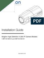 Avigilon Camera Manual HD-H264-B1