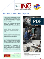 Las empresas en España. Cifras INE