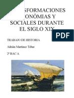 Transformaciones económicas y sociales durante el siglo XX (Historia 2º Bachiller)
