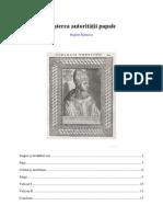 Nasterea autoritatii papale