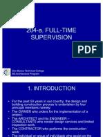 Full Time Supervision 1