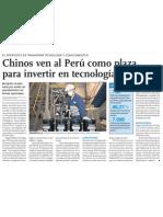 Inversión de China en Perú