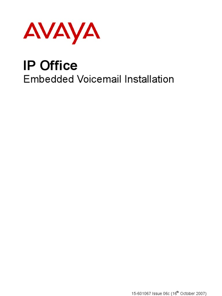 Embedded Voicemail Installation Voicemail Embedded System