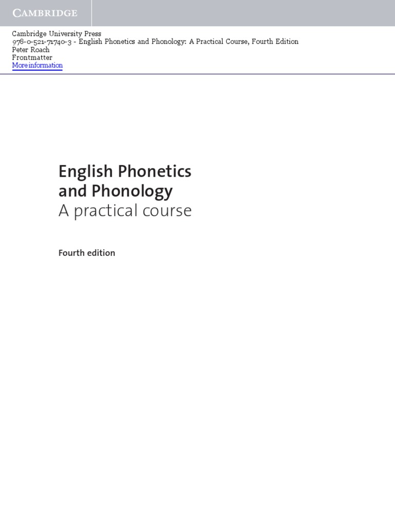 phonetics and phonology by peter roach pdf