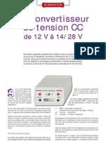 Convertisseur de tension CC de 12v jusqu'à 28v