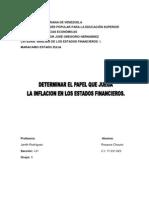 Analisis de estados financieros INFLACIÓN